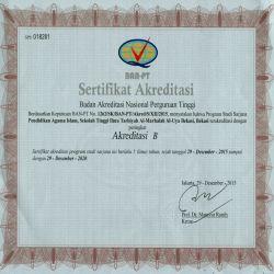 Sertifikat Akreditasi STIT